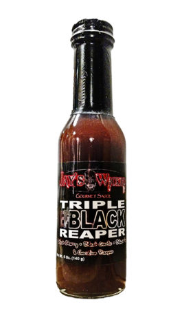 Triple Black Reaper Bottle Close Up